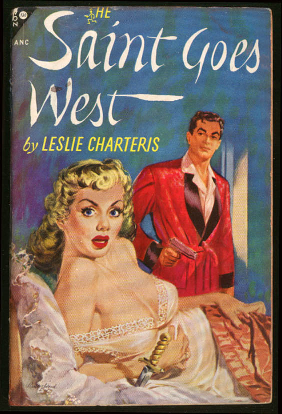 Image for Charteris: The Saint Goes West GGA pb blonde bosoms nightgown man pistol dagger