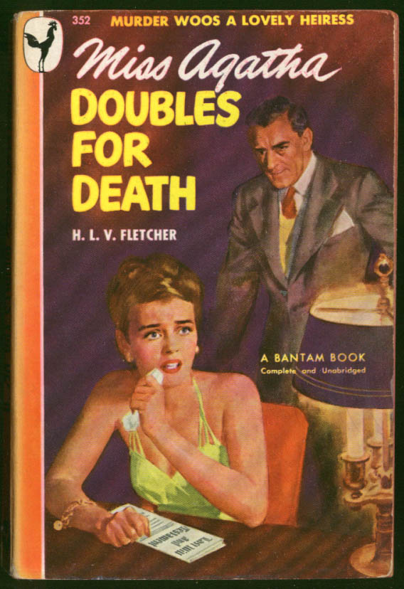 Image for Fletcher: Miss Agatha Doubles for Death GGA noir pb fearful gal menacing man