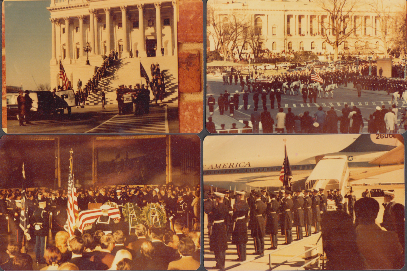 Image for Collection of 47 color photos & negatives of LBJ Funeral 1973