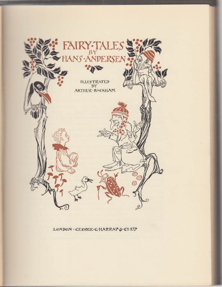Image for Hans Christian Andersen Fairy Tales Arthur Rackham edition 1st ed London 1932