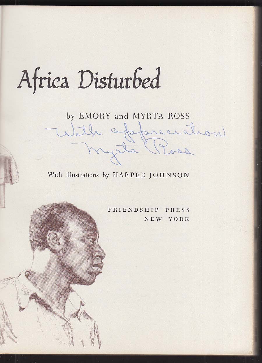 Image for Africa Disturbed by Emory and Myrta Ross 1959 SIGNED