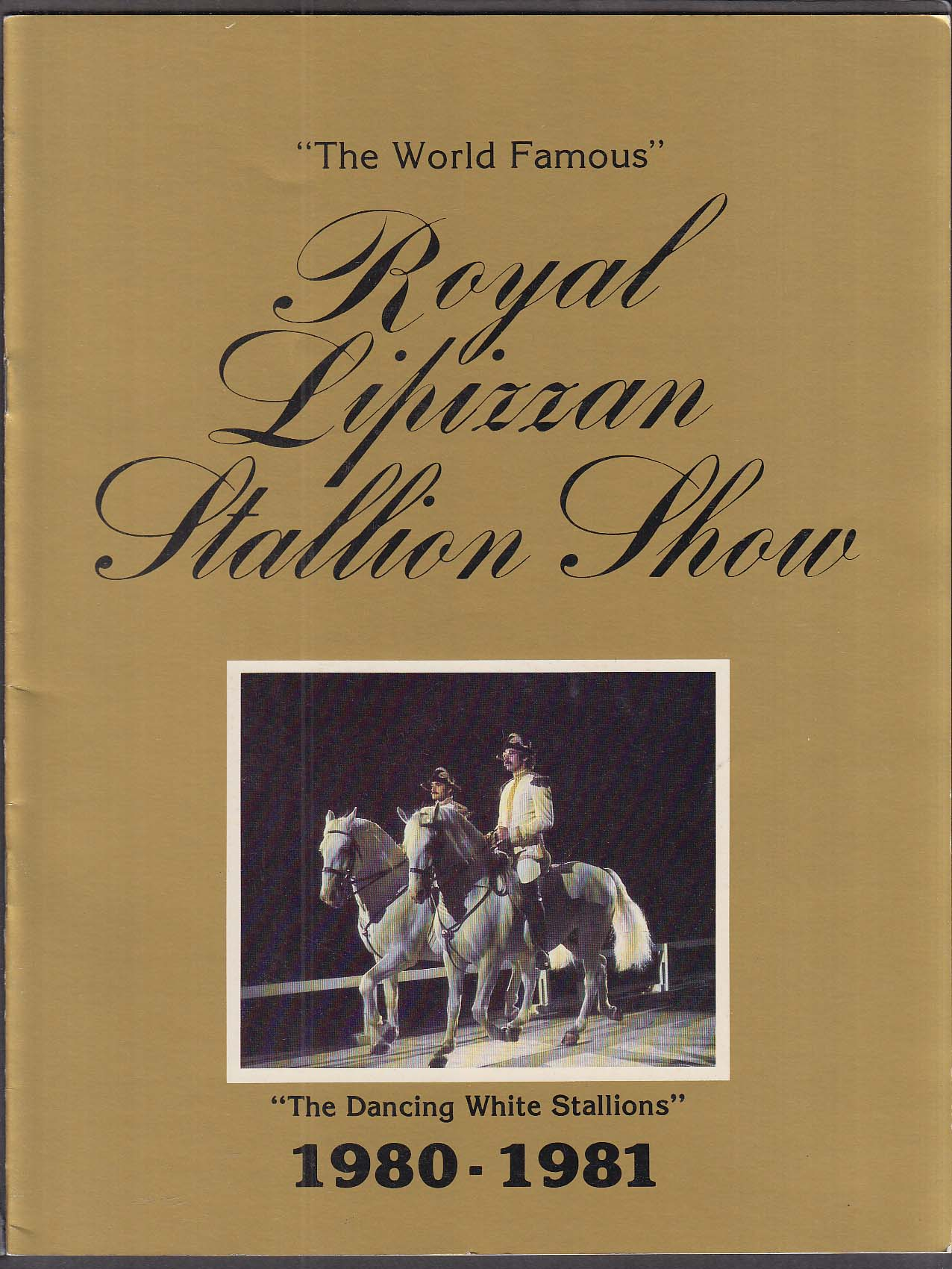 Image for Royal Lipizzan Dancing White Stallion Show 1980-1981 booklet