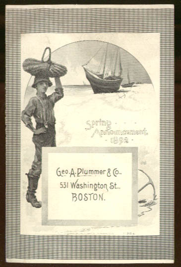 Image for George A Plummer & Co Boston Spring Ladies' Wear Announcement 1892 trade card