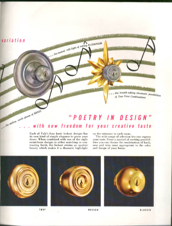 Image for Yale Cylindrical Lock Series 5300 Catalog 1953