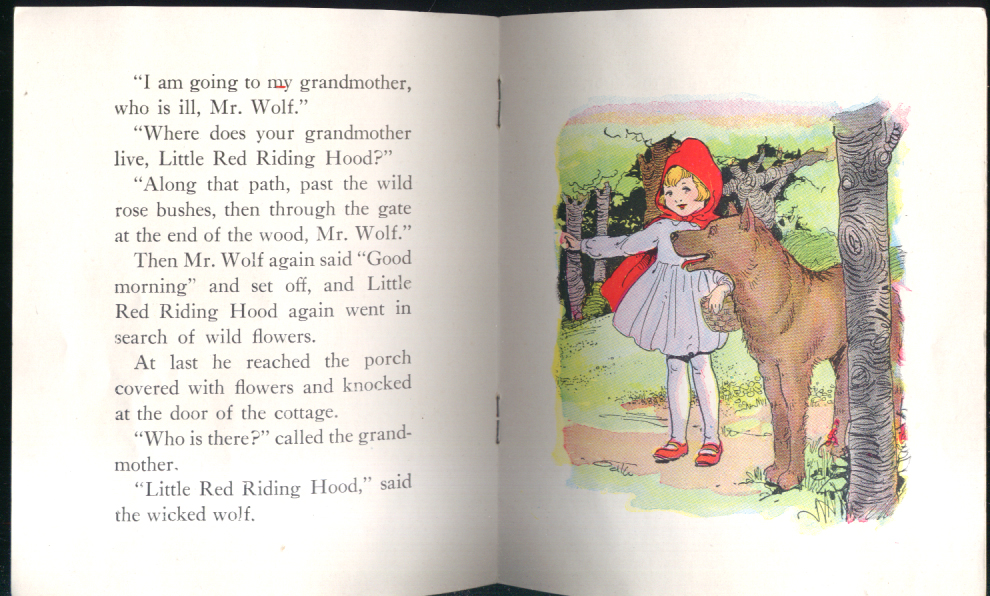 Image for Little Red Riding Hood children's booklet Star #1050G ca 1920