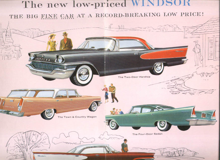 Image for The Mighty Chrysler for 1957 New Yorker Saratoga Windsor sales folder