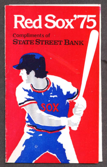 Image for Boston Red Sox 1975 Home & Away Schedule State Street Bank folder
