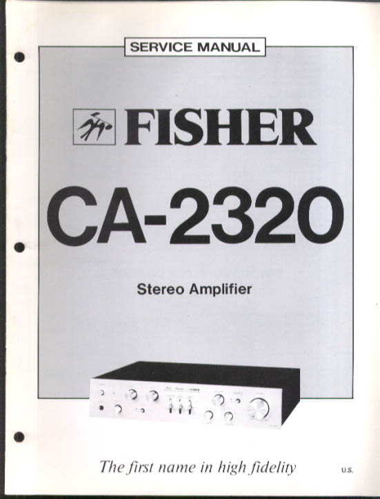 Image for Fisher CA-2320 Stereo Amplifier Service Manual 1979