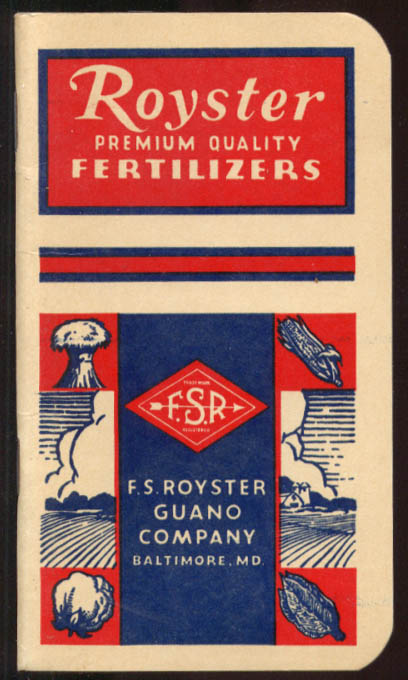 Image for Royster Fertilizers Baltimore MD pocket notebook 1944 1945 unused