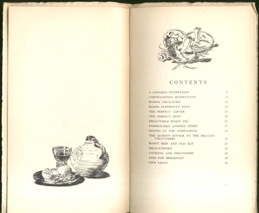Image for Spotlight on Lucullus Pleasures of the Table Anthology ca 1950 Wm Littlewood art