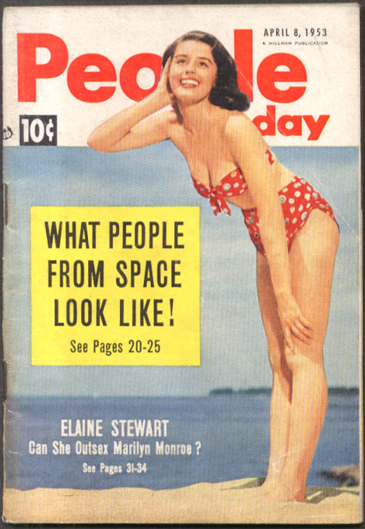 Image for PEOPLE TODAY Elaine Stewart Joanne Gilbert Jackie Pung James Starbuck 4/8 1953