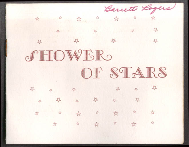 Image for New Concord High School Shower of Stars Football Banquet Program 1956 OH