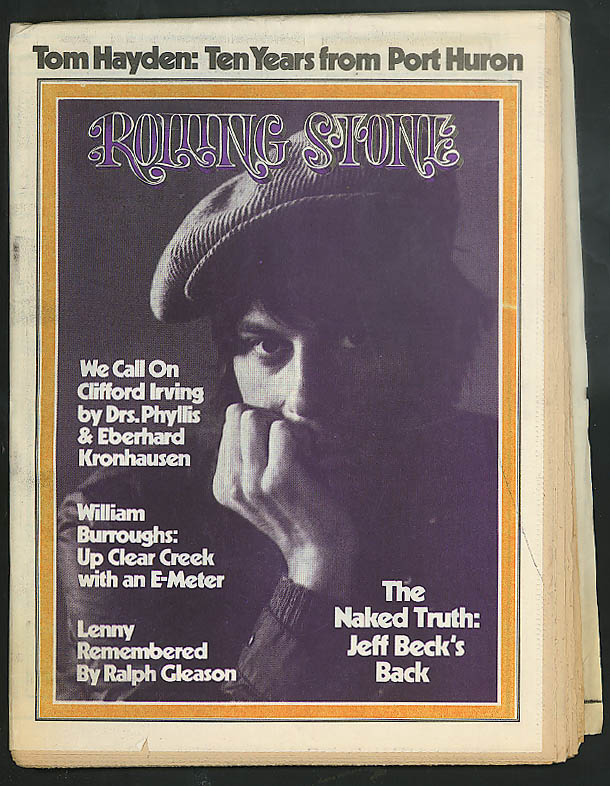 Image for ROLLING STONE Jeff Beck William Burroughs Clifford Irving Lenny Bruce 10/26 1972