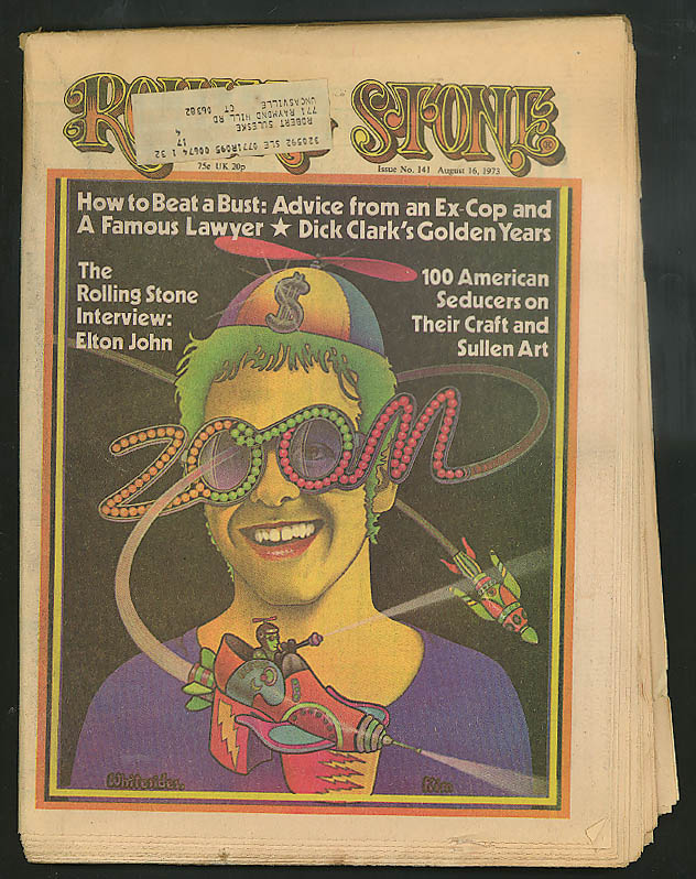 Image for ROLLING STONE Elton John Dick Clark Everly Brothers retire ++ 8/16 1973