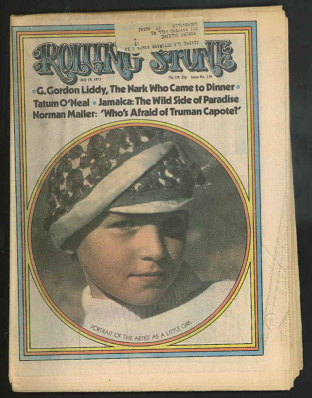 Image for ROLLING STONE Tatum O'Neal Mailer on Capote G Gordon Liddy ++ 7/19 1973