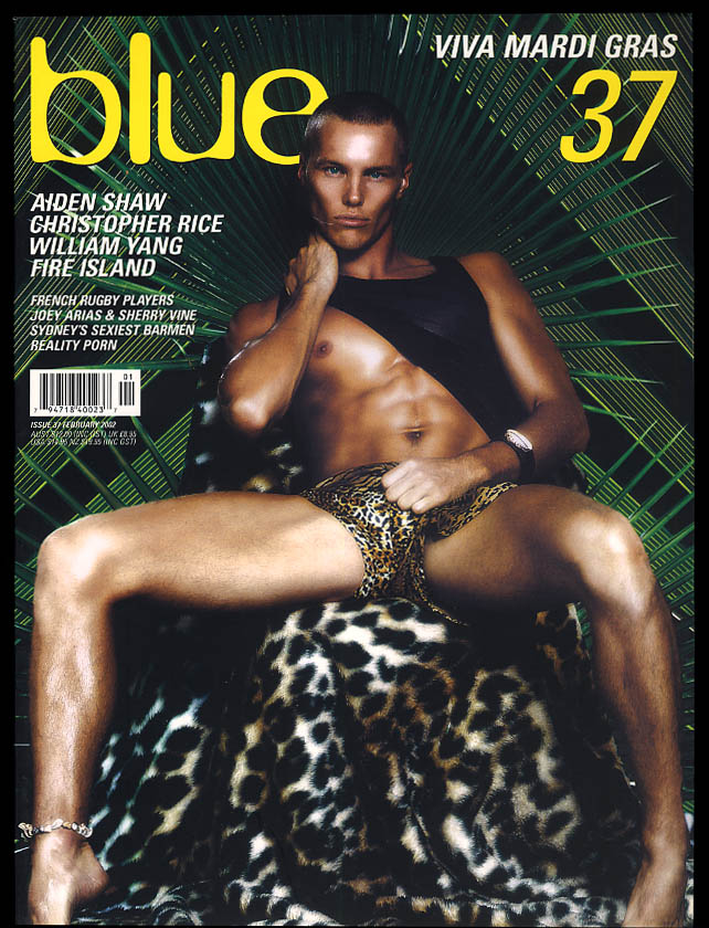 Image for NOT ONLY BLUE Gay male erotica #37 2 2002 Aiden Shaw William Yang Fire Island