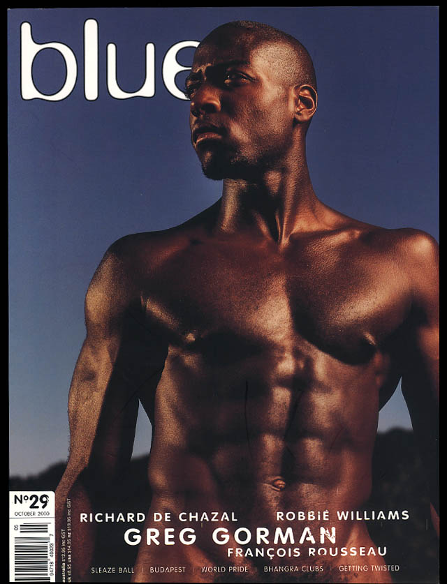Image for NOT ONLY BLUE Gay male erotica #29 10 2000 De Chazal Greg Gorman Rousseau +