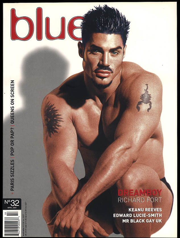 Image for NOT ONLY BLUE Gay male erotica #32 4 2001 Richard Fort Keanu Reeves Lucie-Smith