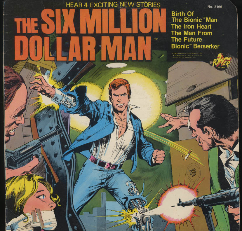Image for The Six Million Dollar Man 33rpm record 1975 TV tie-in