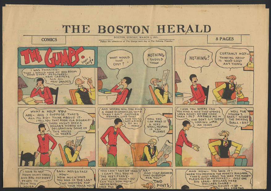 Image for Boston Herald comics 3/1 1931 Little Orphan Annie ++