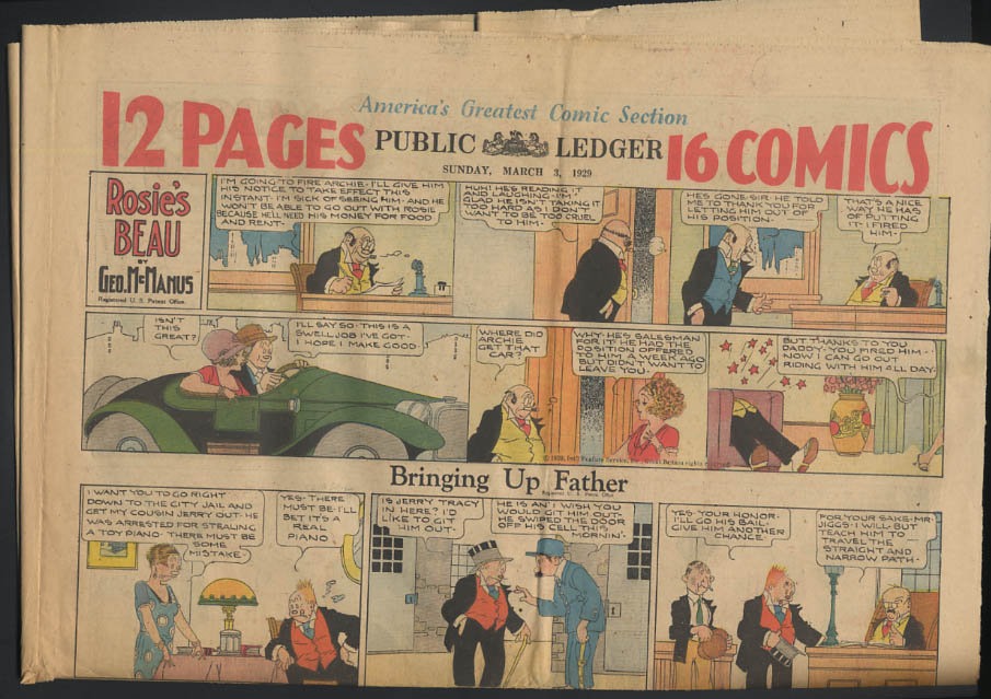 Image for Philadelphia Public Ledger comics 3/3 1929 Little Orphan Annie ++