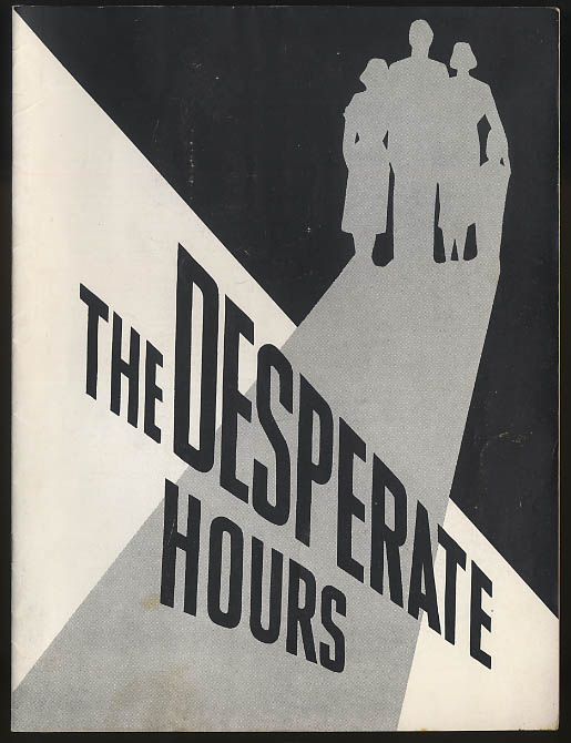 Image for The Desperate Hours theatre program Paul Newman Karl Malden Nancy Coleman 1955