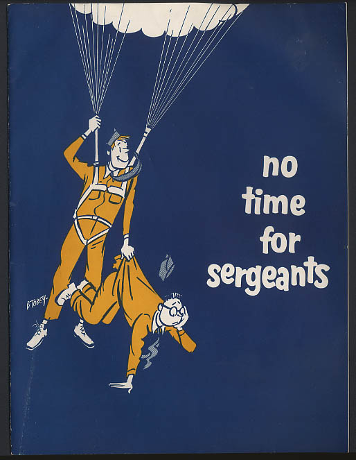 Image for No Time for Sergeants program 1955 Andy Griffith Don Knotts Roddy McDowall
