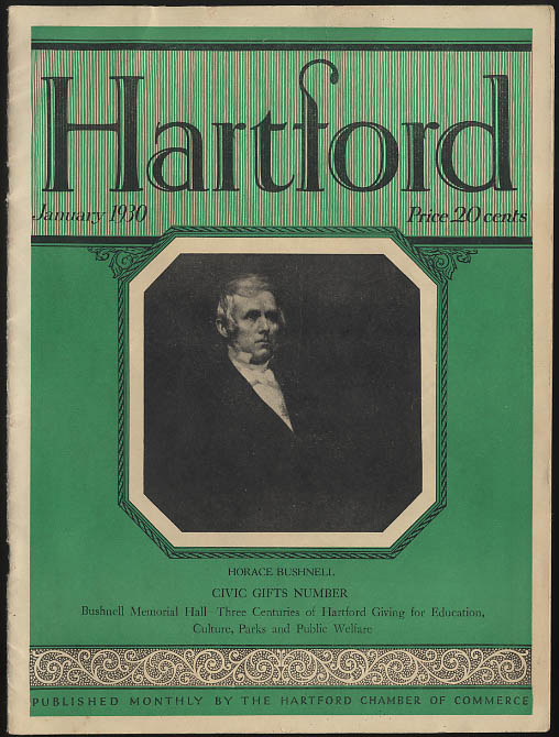 Image for HARTFORD magazine 1 1930 Horace Bushnell & Civic Gifts Number