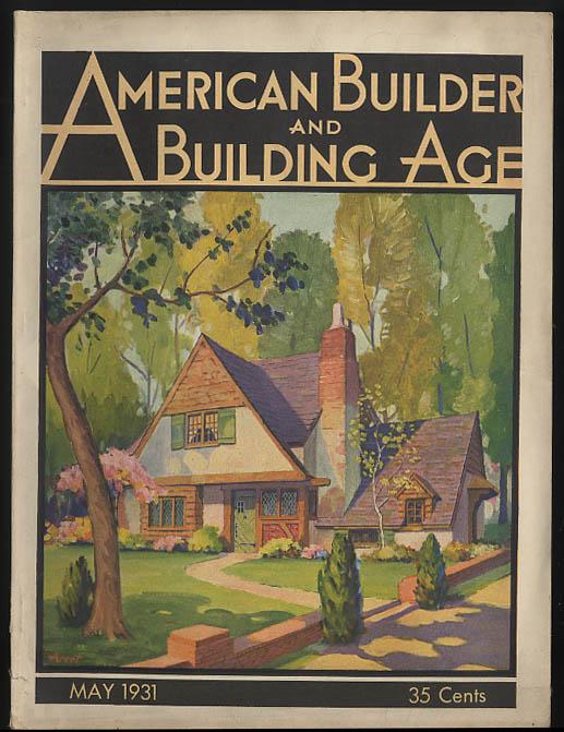 Image for AMERICAN BUILDER & BUILDING AGE 5 1931 73 Prospect E Orange NJ; Abbott Court