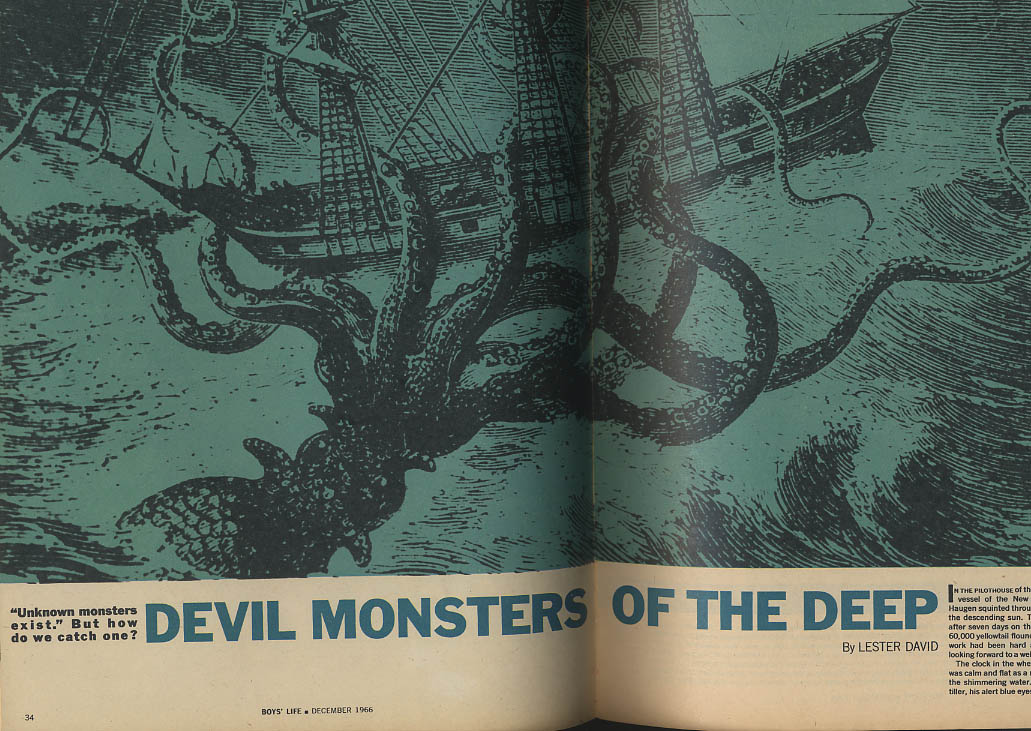 Image for BOYS LIFE 12 1966 Gordie Howe Giant Squid Monsters of the Deep
