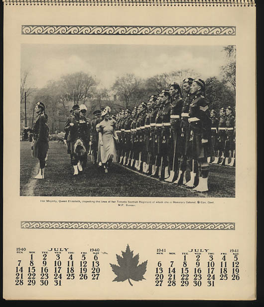 Image for The Royal Visit to Canada Calendar 1940-1941