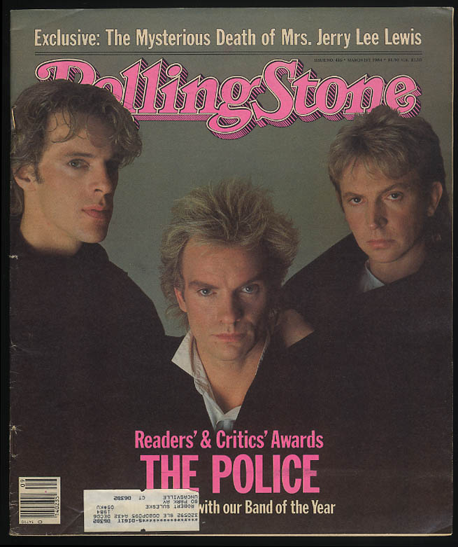 Image for ROLLING STONE 3/1 1984 The Police Mrs Jerry Lee Lewis Aple vs IBM Mondale