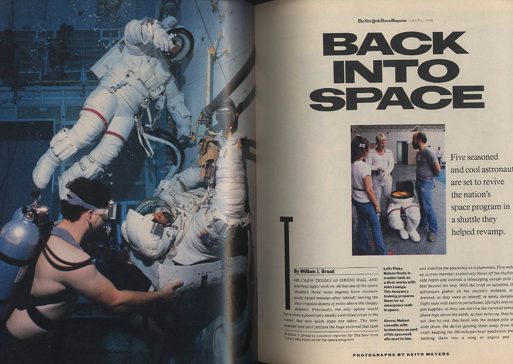 Image for NEW YORK TIMES MAGAZINE 7/3 1988 Space Shuttle returns; Candidate Paul Simon