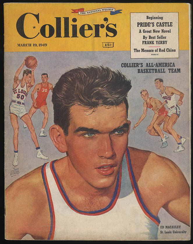 Image for COLLIER'S 3/19 1949 All-America Basketball Ed Macauley; Red China; Morton Downey
