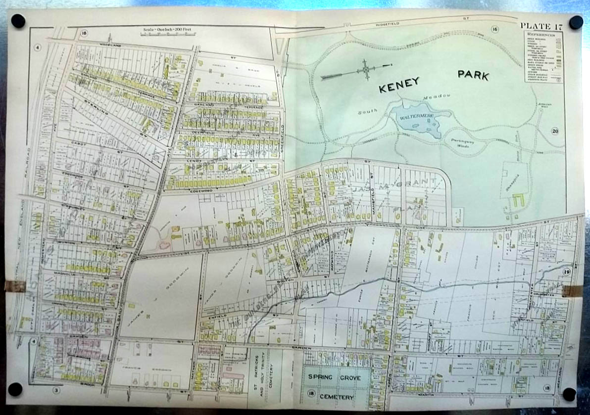 Image for 1909 Hartford CT Map : Keney Park; Goodwin & Batterson Estates; Cemeteries
