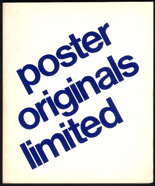 Image for Poster Originals Limited Catalog 1988 Chagall Chwast Glaser Warhol +++