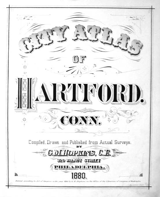 Image for Hartford CT Map 1880 Wards 4 & 8 Shew Latimer Brewer Kingan Maple Av
