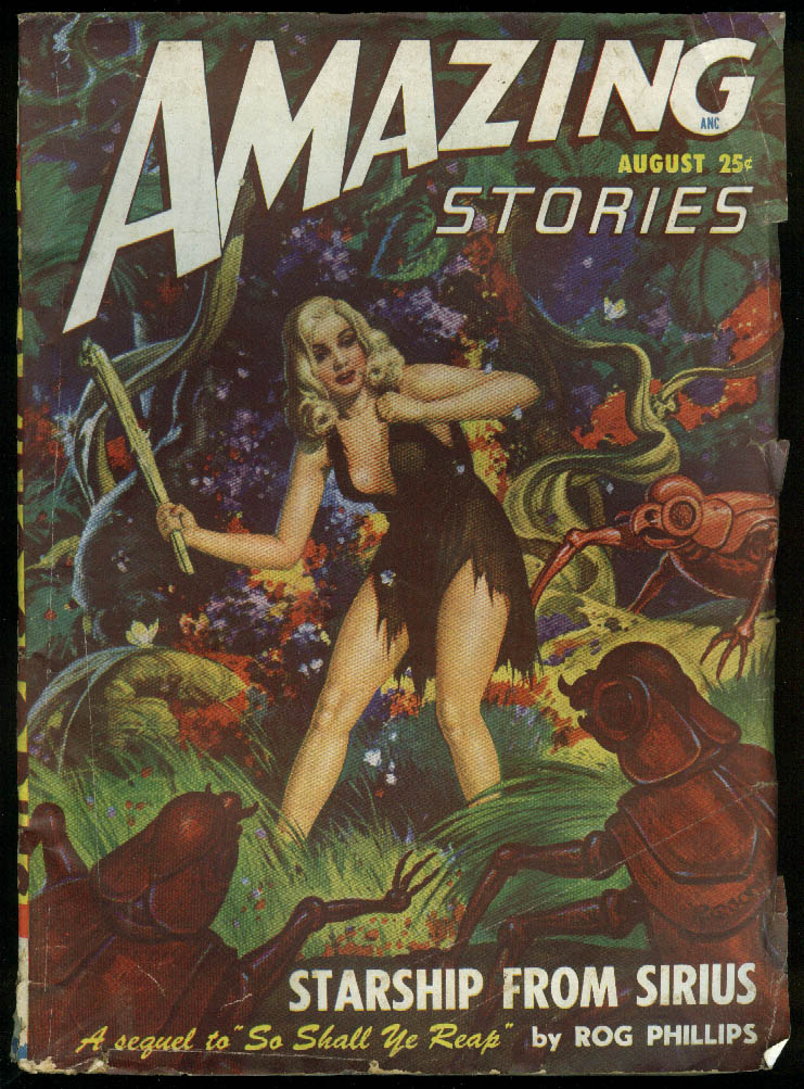 Image for AMAZING STORIES pulp GGA Phillips Tenneshaw Browning Morrison Gray Krupa 8 1948