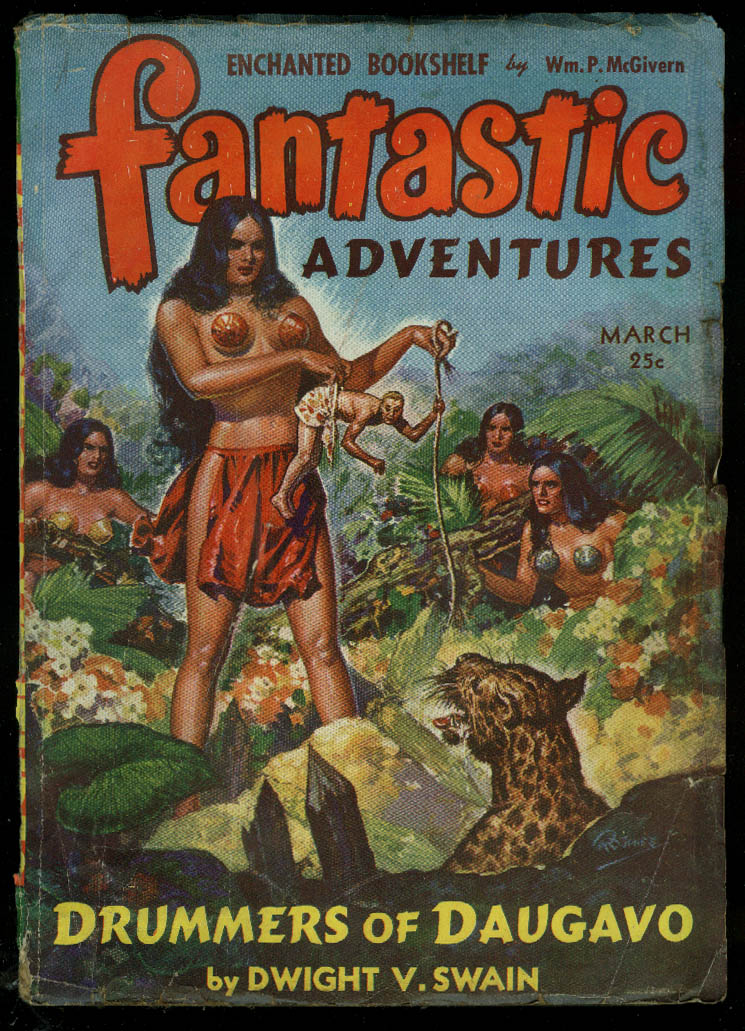 Image for FANTASTIC ADVENTURES pulp GGA McGivern Swain Bloch Arno Cabot Fiske ++ 3 1943