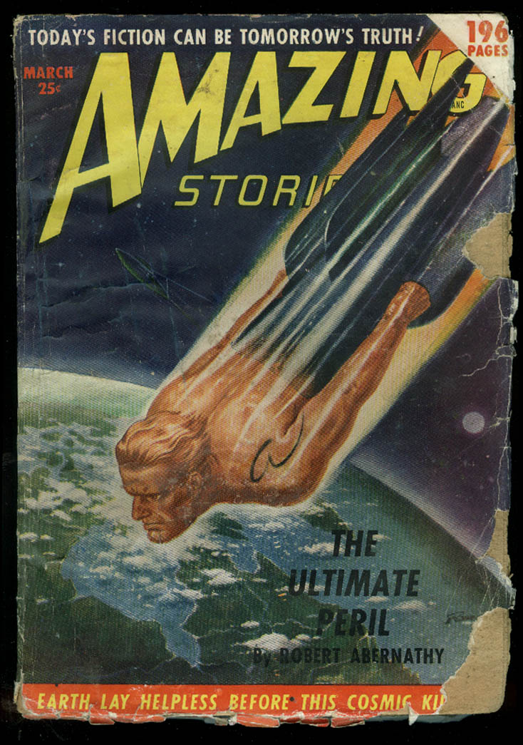 Image for AMAZING STORIES pulp Hickey Abernathy Jarvis Temple Moore Browning 3 1950