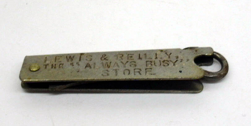 Image for Lewis & Reilly The Always Busy Store folding metal hook 1903