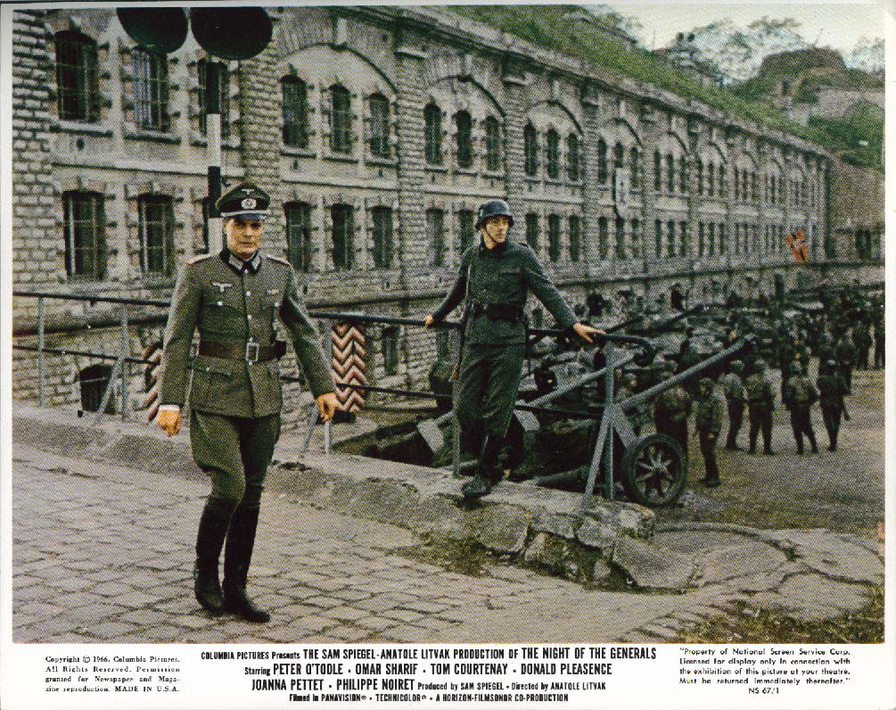 Image for Peter O'Toole The Night of the Generals lobby card 1967