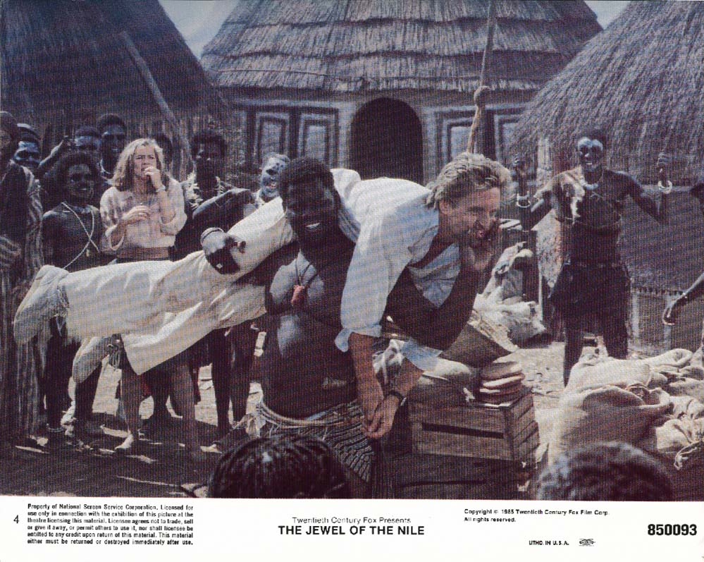 Image for Michael Douglas Jewel of the Nile lobby card 1985