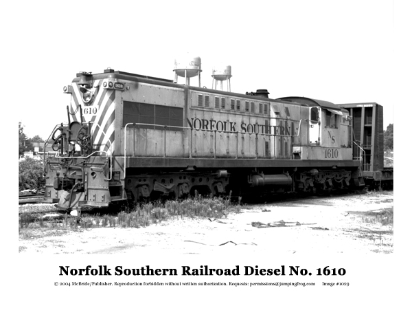 Image for Norfolk Southern RR Diesel #1610 8x10