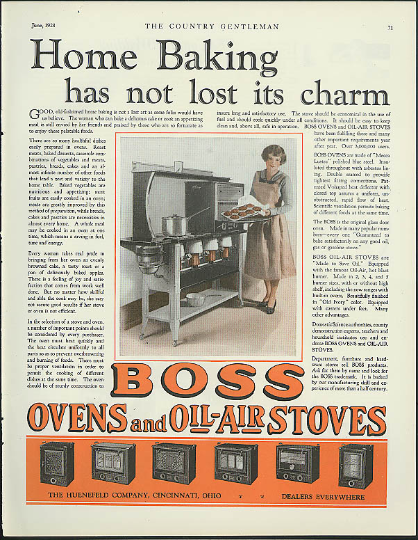 Image for Home Baking has not lost its charm Boss Ovens & Oil-Air Stoves ad 1928