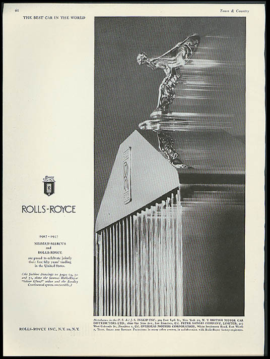 Image for The Best Car in the World Rolls-Royce & Nieman-Marcus 1907-1957 ad