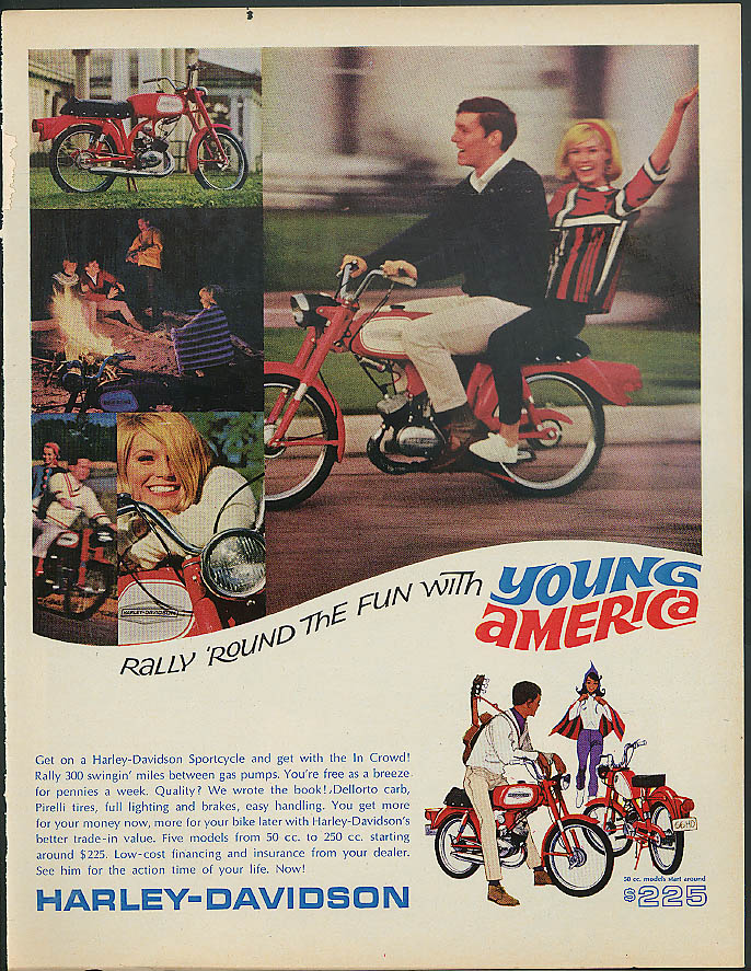Image for Rally 'round the fun Young America Harley-Davidson Sportcycle Rally 300 ad 1966