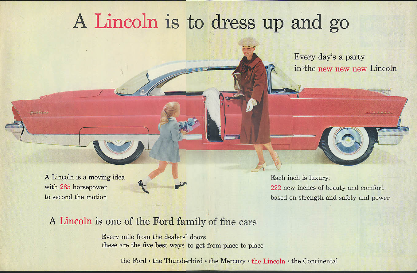 Image for A Lincoln Premiere Coupe is to dress up and go Ford Motor Company ad 1956