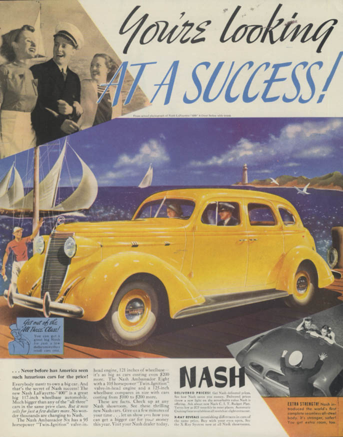 Image for You're looking at a Success! Nash LaFayette 400 Sedan ad 1937