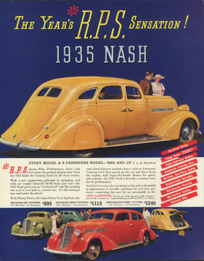 Image for The Year's R P S Sensation! Nash & LaFayette ad 1935